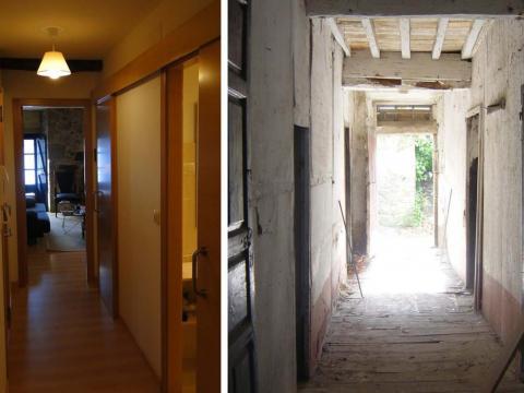 Rehabilitación vivienda Avenida del Mar 33_Mugardos_Pasillo interior