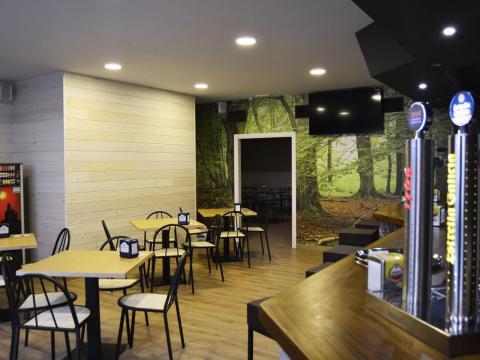 negro moderno diseño hostelería cafetería argos fene