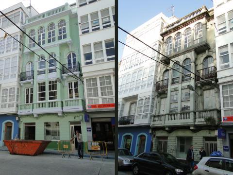 antes y despues verde renovación