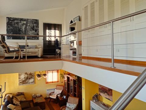 vista interior desde las escaleras