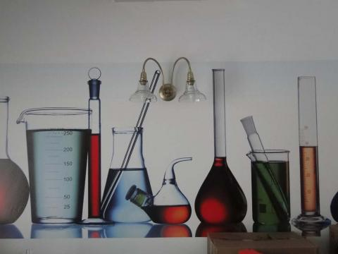 Interiorismo Farmacia Santa Cruz_Oleiros_Imagen mural