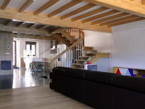 madera diseño color sofá transparencia vidrio