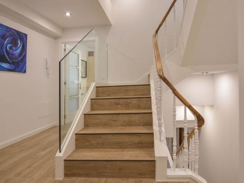 escaleras vestíbulos plantas niveles