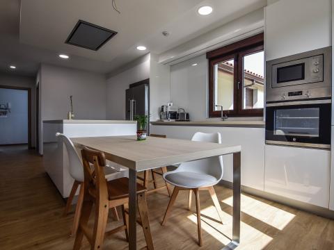 cocina diseño interiores zebrano blanco electrodomesticos horno
