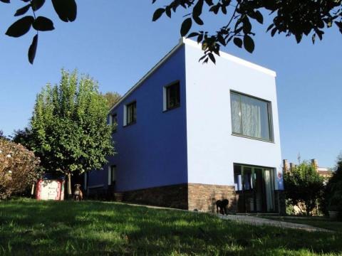 fachada norte azul piedra color ampliación